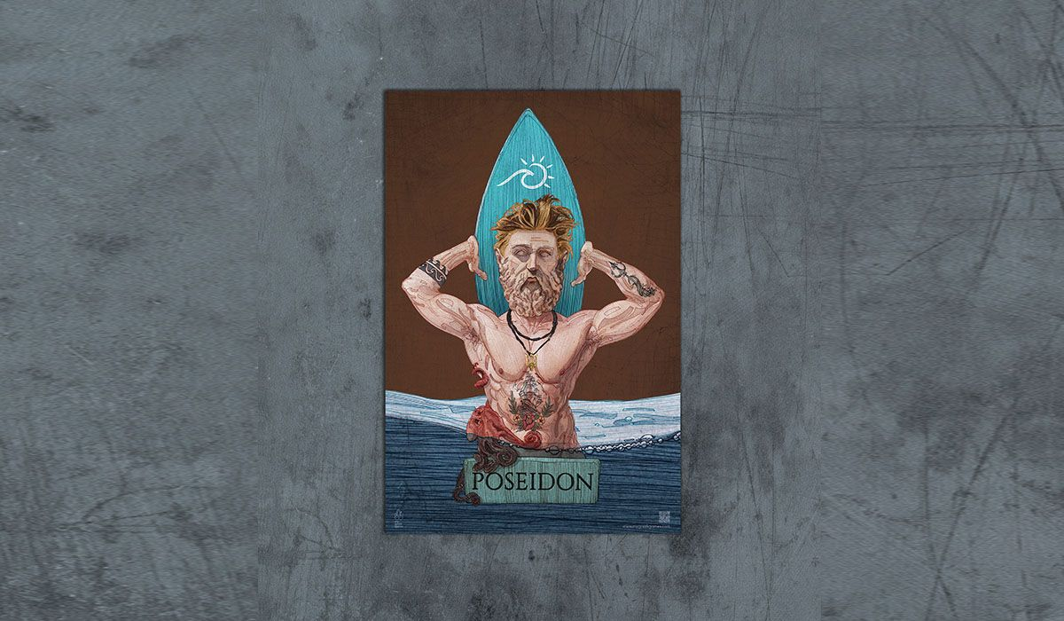 Poseidon Poster - The 'Wise Reinvented' Series