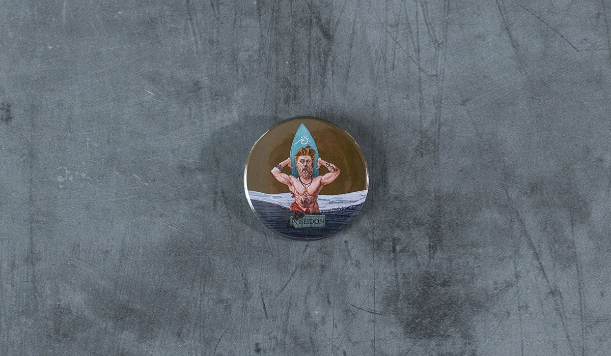 Poseidon Pin - The 'Wise Reinvented' Series