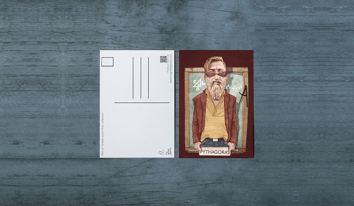 Pythagoras Carte Postale - The 'Wise Reinvented' Series
