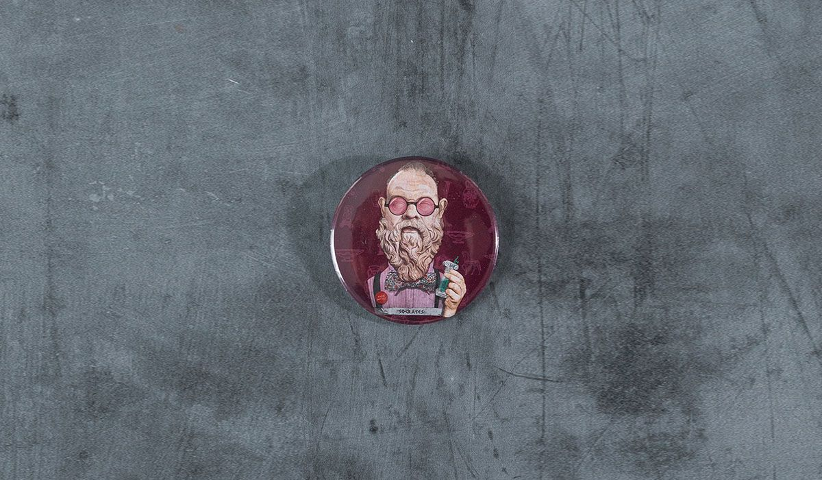 Socrates Pin - The 'Wise Reinvented' Series