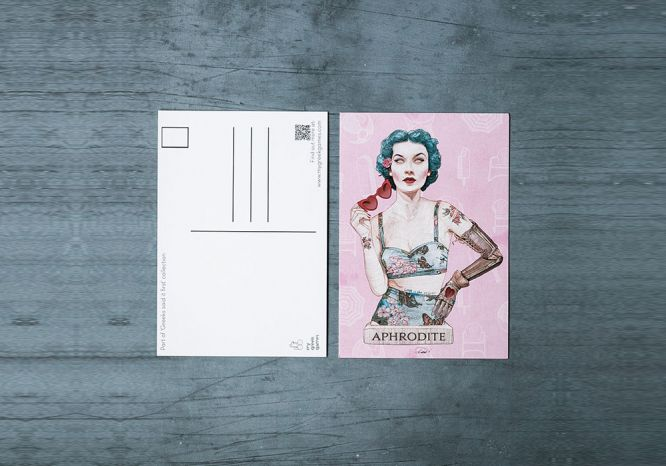 Aphrodite Carte Postale - The 'Wise Reinvented' Series