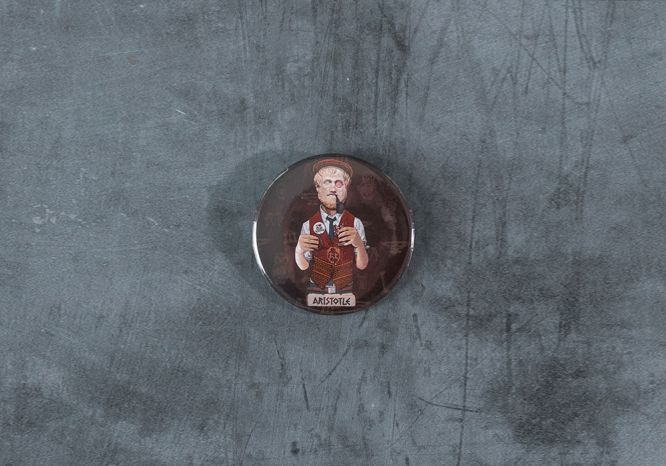 Aristotle Pin - The 'Wise Reinvented' Series