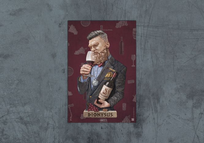 Dionysus Poster - The 'Wise Reinvented' Series