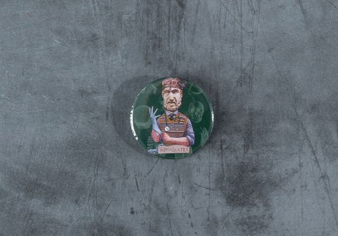 Hippocrates Pin - The 'Wise Reinvented' Series
