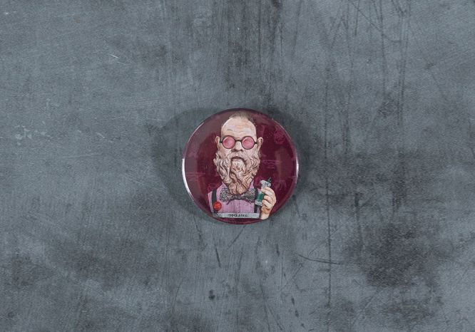 Socrates Magnet/Bottle Opener - The 'Wise Reinvented' Series