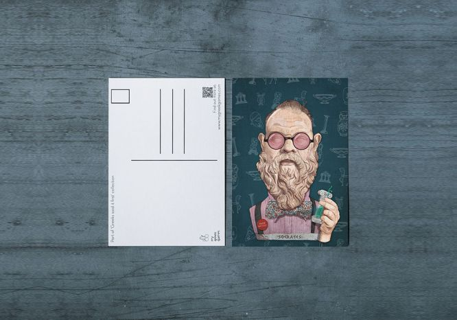Socrates Carte Postale - The 'Wise Reinvented' Series